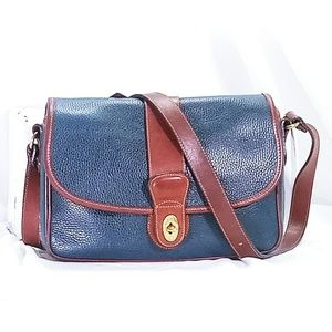 Coach Vintage Blue & Brown Crossbody Bag